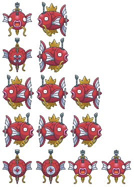 Pokémon-Pixelart: Karpador U-Boot