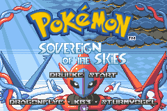 Pokémon-Pixelart: Titelscreen - Sovereign of the Skies