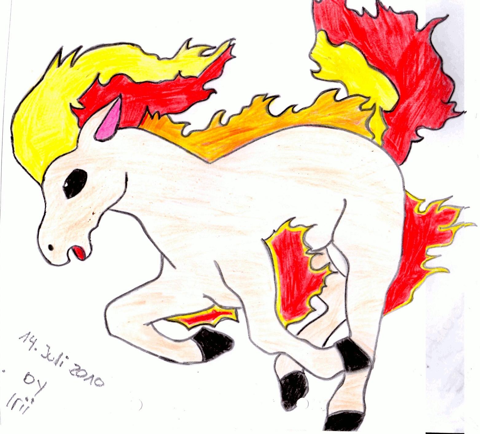Pokémon-Zeichnung: Ponita