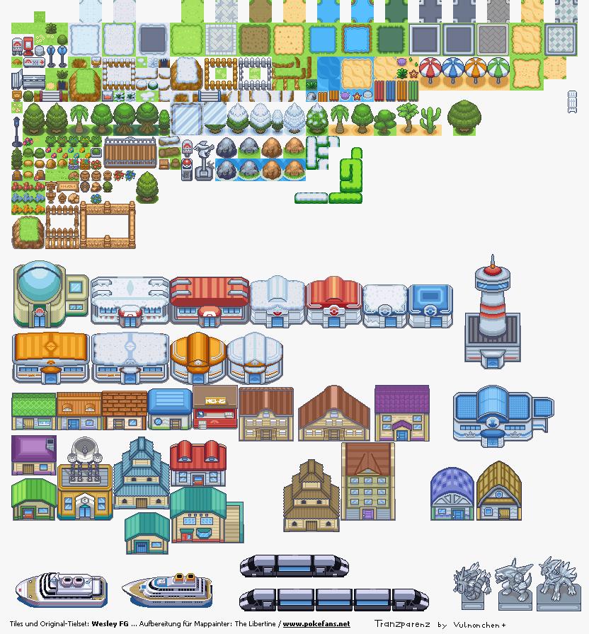 Pokémon-Tileset: Wesleytileset halbwegs transparent