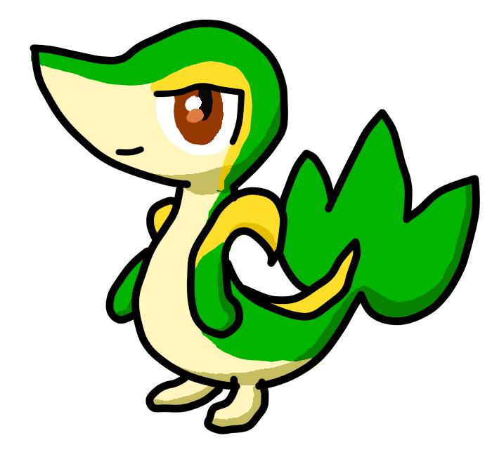 Pokémon-Zeichnung: Comic-Serpifeu
