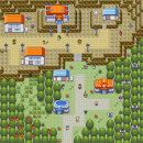 Dorf am Berg