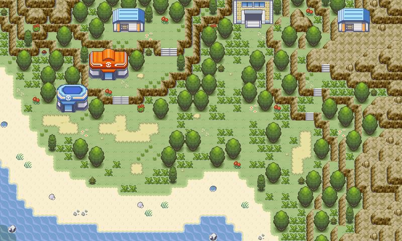 Pokémon-Map: Berg...Dorf?