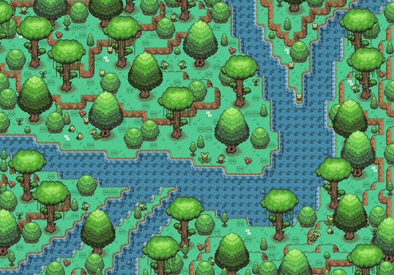 Pokémon-Map: Geckarbor-Dschungel