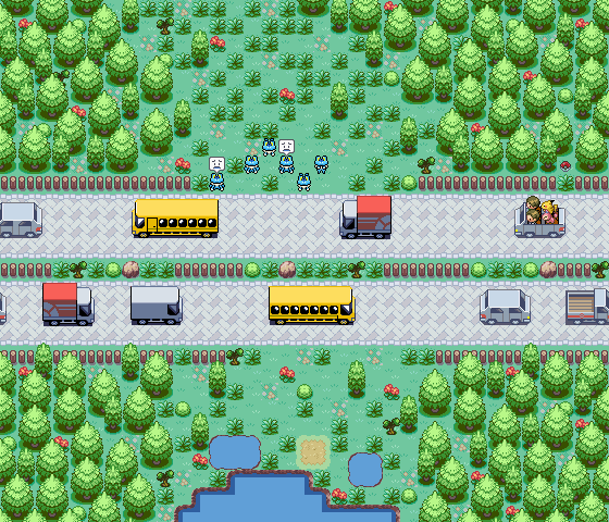 Pokémon-Map: Kreuzung