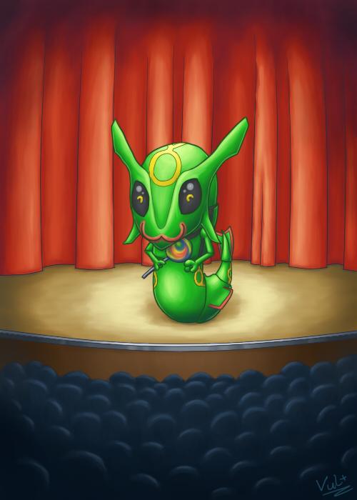 Pokémon-Zeichnung: Rayquaza setzt Kulleraugen ein?