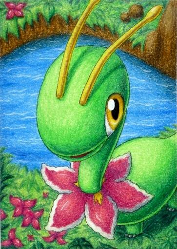 Pokémon-Zeichnung: Meganie
