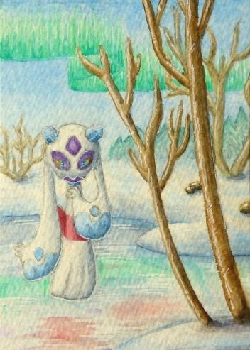 Pokémon-Zeichnung: Winterzeit