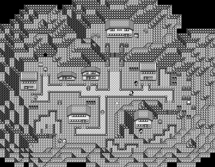 Pokémon-Map: Höhlen-Stadt