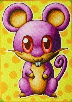 Pokémon-Zeichnung: Rattfratz