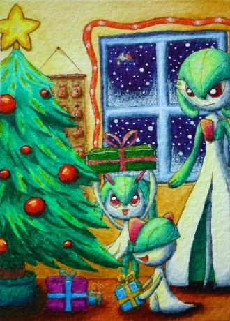 Pokémon-Zeichnung: Christmas with Family