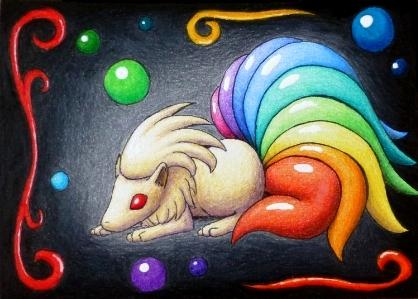 Pokémon-Zeichnung: Blubb-Vulnonchen