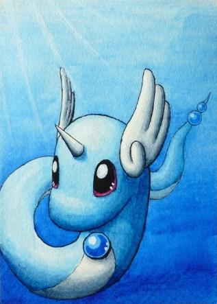 Pokémon-Zeichnung: Dragonir
