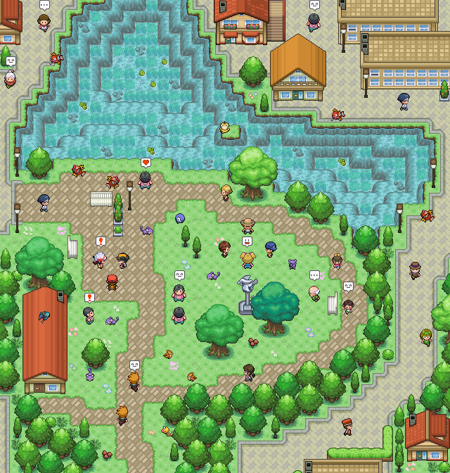 Pokémon-Map: Der große Teich
