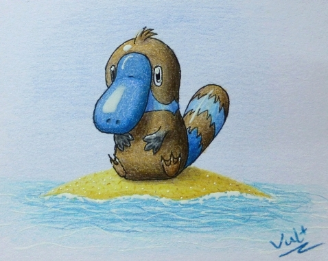 Pokémon-Zeichnung: Schnabelpoké