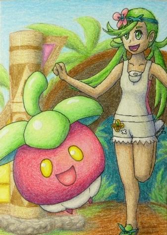 Pokémon-Zeichnung: Mahos Prüfung