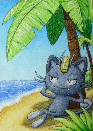Pokémon-Zeichnung: Alola-Mauzi