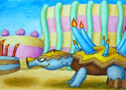 Pokémon-Zeichnung: Tortunator