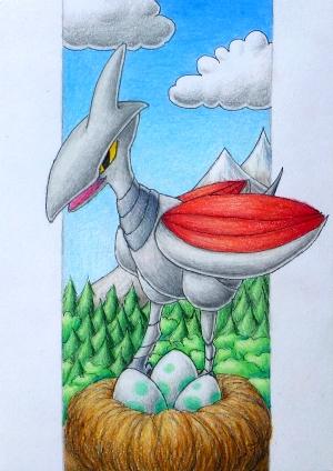 Pokémon-Zeichnung: Panzaeron