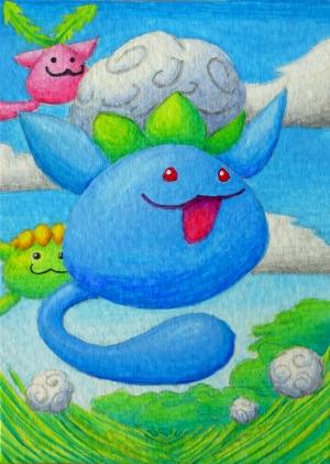 Pokémon-Zeichnung: Beta-Papungha