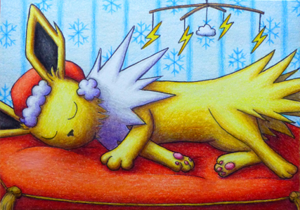 Pokémon-Zeichnung: Sleepy Blitza