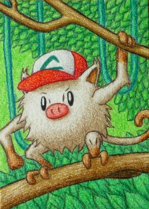 Pokémon-Zeichnung: Menki