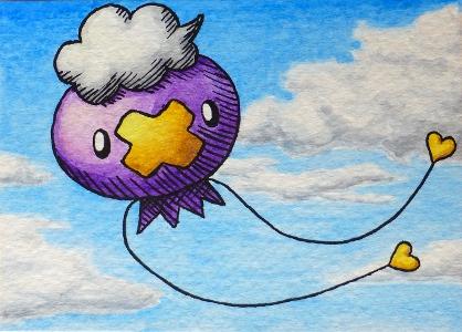 Pokémon-Zeichnung: Driftlon
