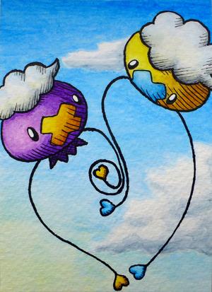 Pokémon-Zeichnung: Driftlon & Driftlon