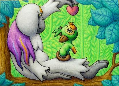 Pokémon-Zeichnung: Chimpep & Kommandutan