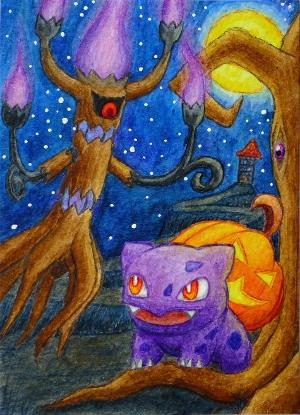 Pokémon-Zeichnung: Halloween-Bisa