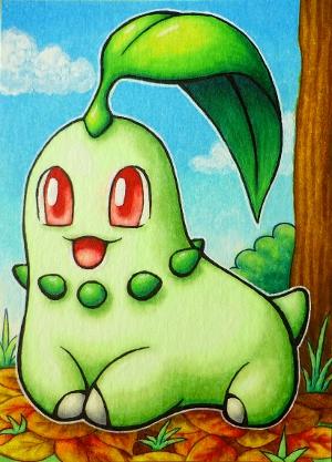 Pokémon-Zeichnung: Endivie