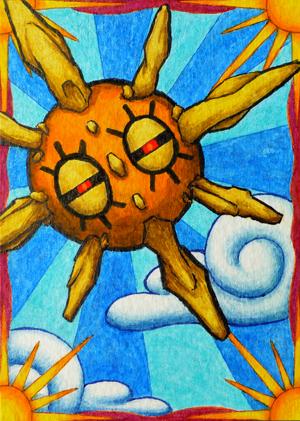 Pokémon-Zeichnung: Sonnfel