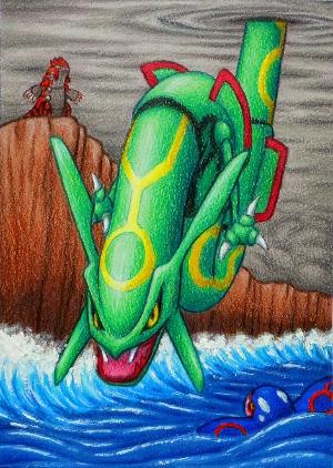 Pokémon-Zeichnung: Rayquaza
