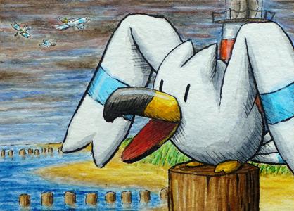 Pokémon-Zeichnung: Wingull