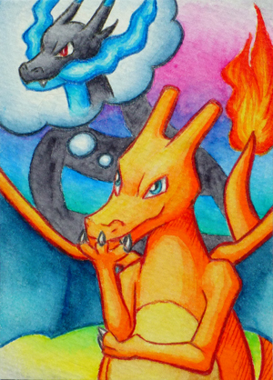 Pokémon-Zeichnung: Mega-Entwicklung?