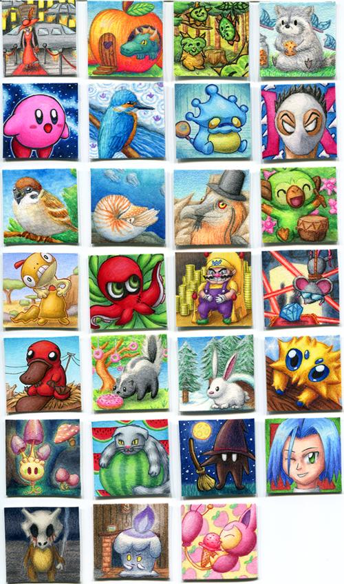 Pokémon-Zeichnung: Allerlei Inchies