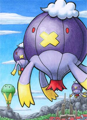 Pokémon-Zeichnung: Drifzepeli