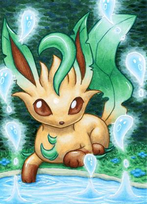 Pokémon-Zeichnung: Folipurba