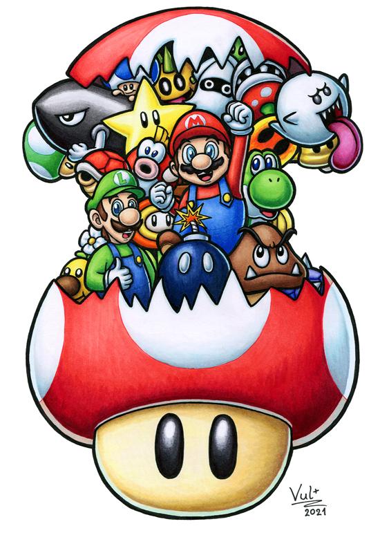 Pokémon-Zeichnung: Super Mario Doodle