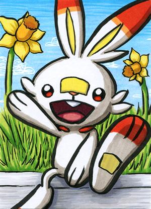 Pokémon-Zeichnung: Hopplo