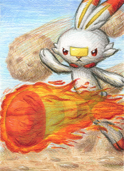 Pokémon-Zeichnung: Feuerfeger