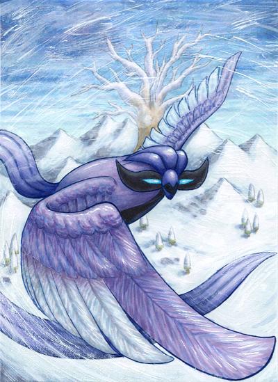 Pokémon-Zeichnung: Über den Schneelanden