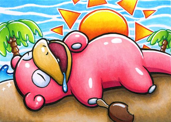 Pokémon-Zeichnung: Summertime Flegmon