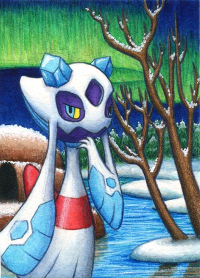 Pokémon-Zeichnung: Am See der Stärke