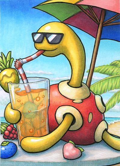 Pokémon-Zeichnung: Beerenschorle