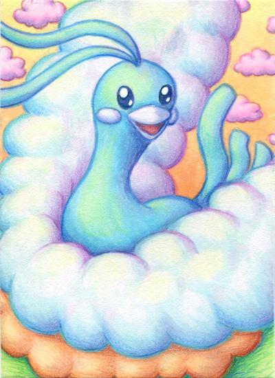 Pokémon-Zeichnung: Altaria