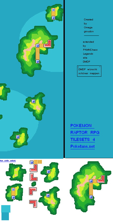 Tileset: Pokemon Raptor Tileset:World Map (Pokémon-Fanart)