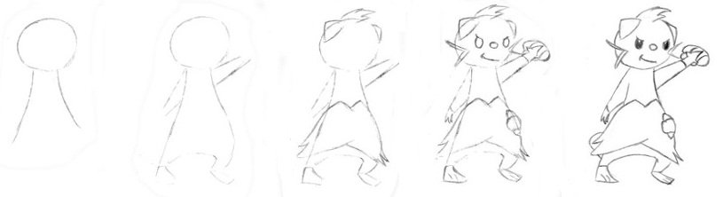 Pokémon-Zeichnung: Zeichenhilfe: Zwottronin