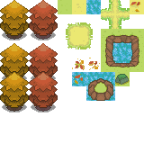 Pokémon-Tileset: Mal wieder n Tileset - Herbst