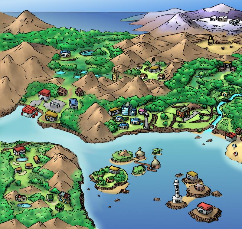Pokémon-Zeichnung: Die Joka Region